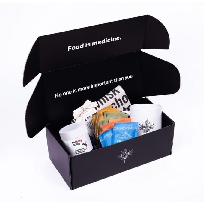 Red Belly Hemp Honey Gift Box with tea towel