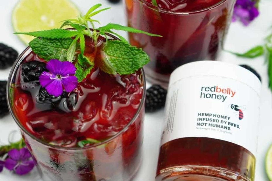 The Herb Somm's Red Belly Honey Blackberry Mojito