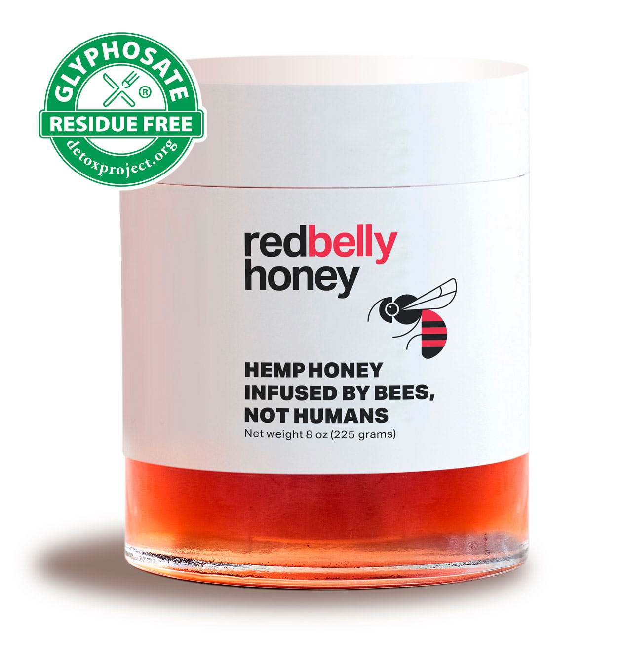 Red Belly Honey is Certified Glyphosate Free by The Detox Project