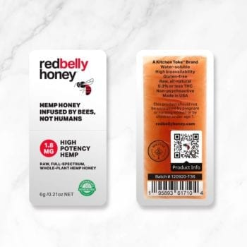 Red Belly Honey Snap Pack, with back label