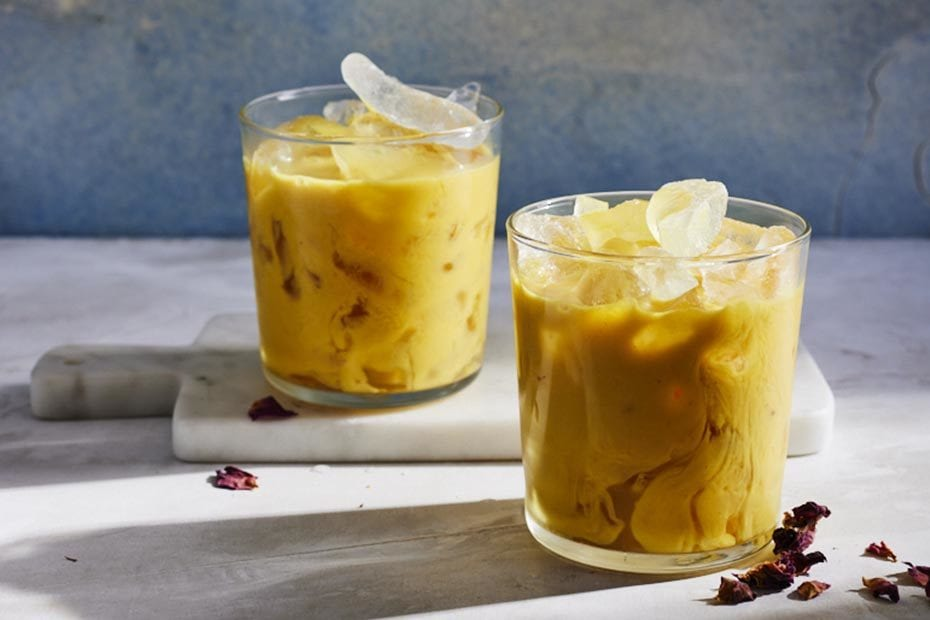 Iced Turmeric Latte with Red Belly Honey