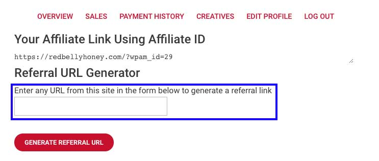 This is the CREATIVES link in the affiliates page