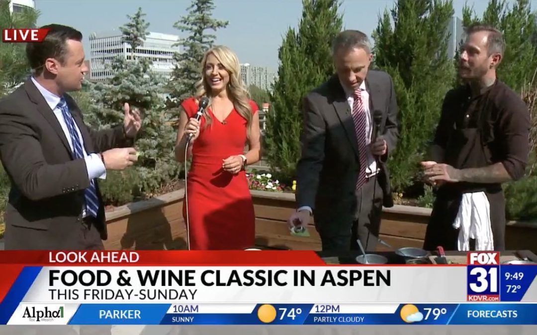 Chef Derek Simcik with Red Belly Honey on Fox 31 News Denver