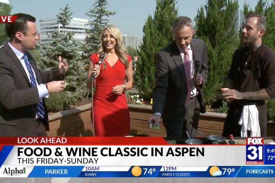 Chef Derek Simcik Cooks with Red Belly Honey on Fox 31 News Denver